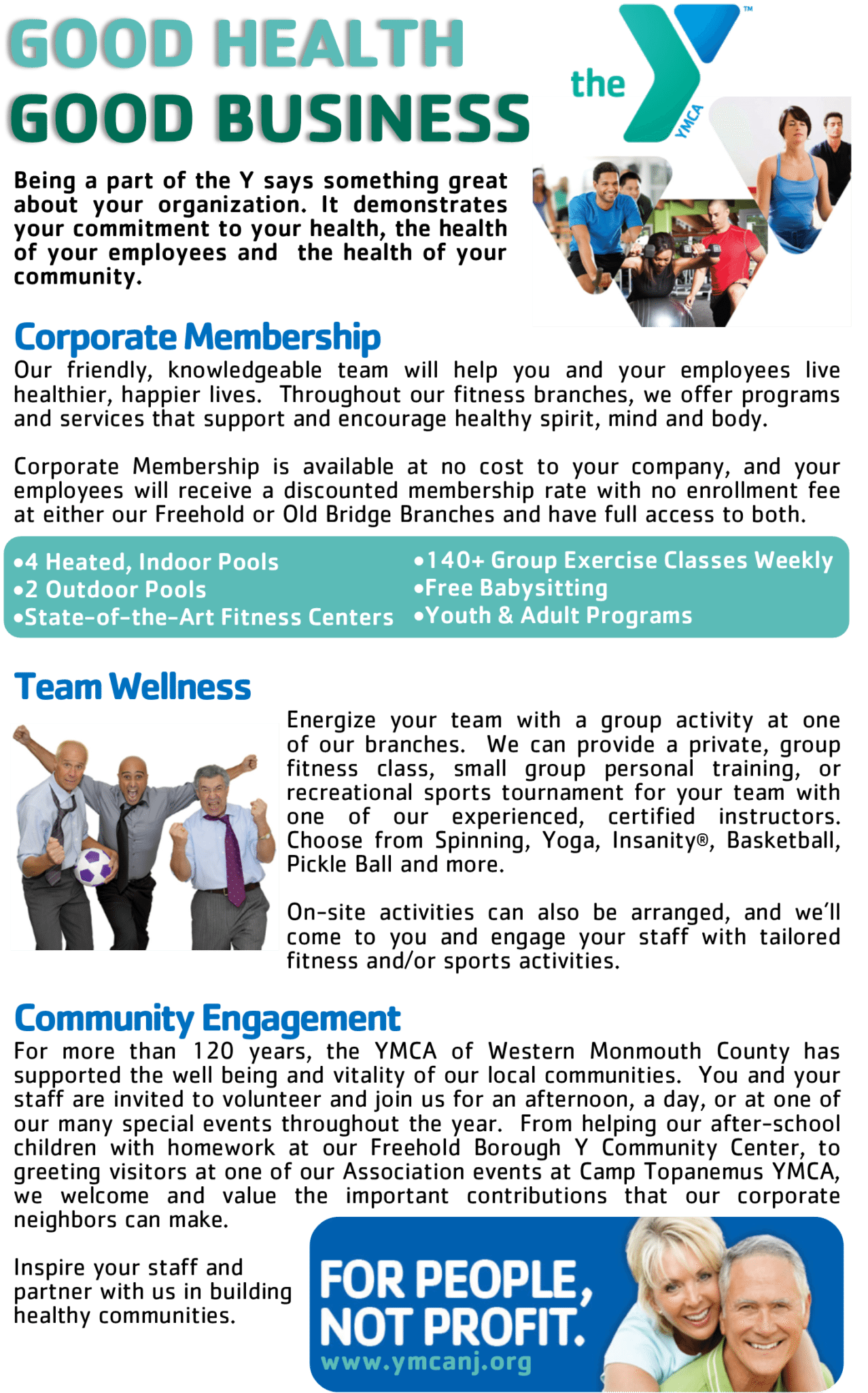 ymca of western monmouth county corporate membership corporate
