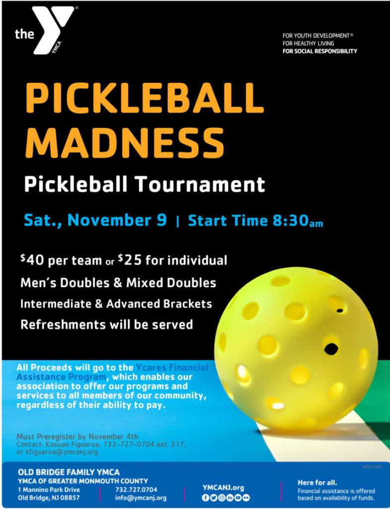Pickleball Tournament @ Old Bridge Family YMCA