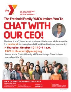 CEO Meet & Greet   Try Freehold Family YMCA