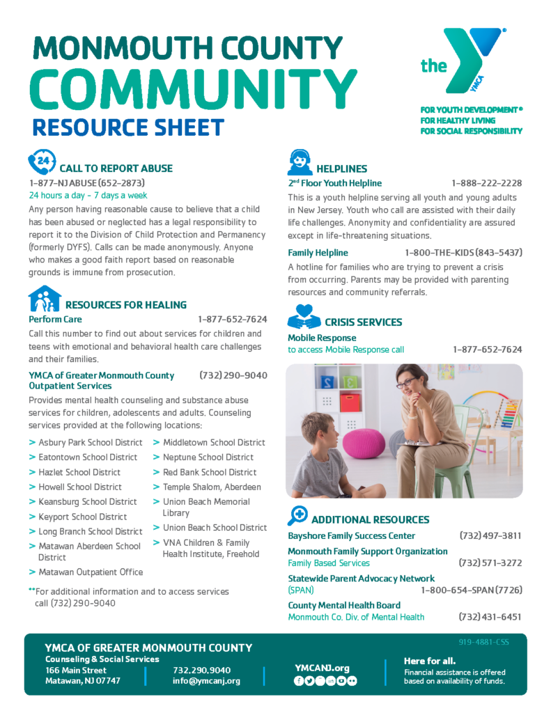 Monmouth County Mental Health Resources