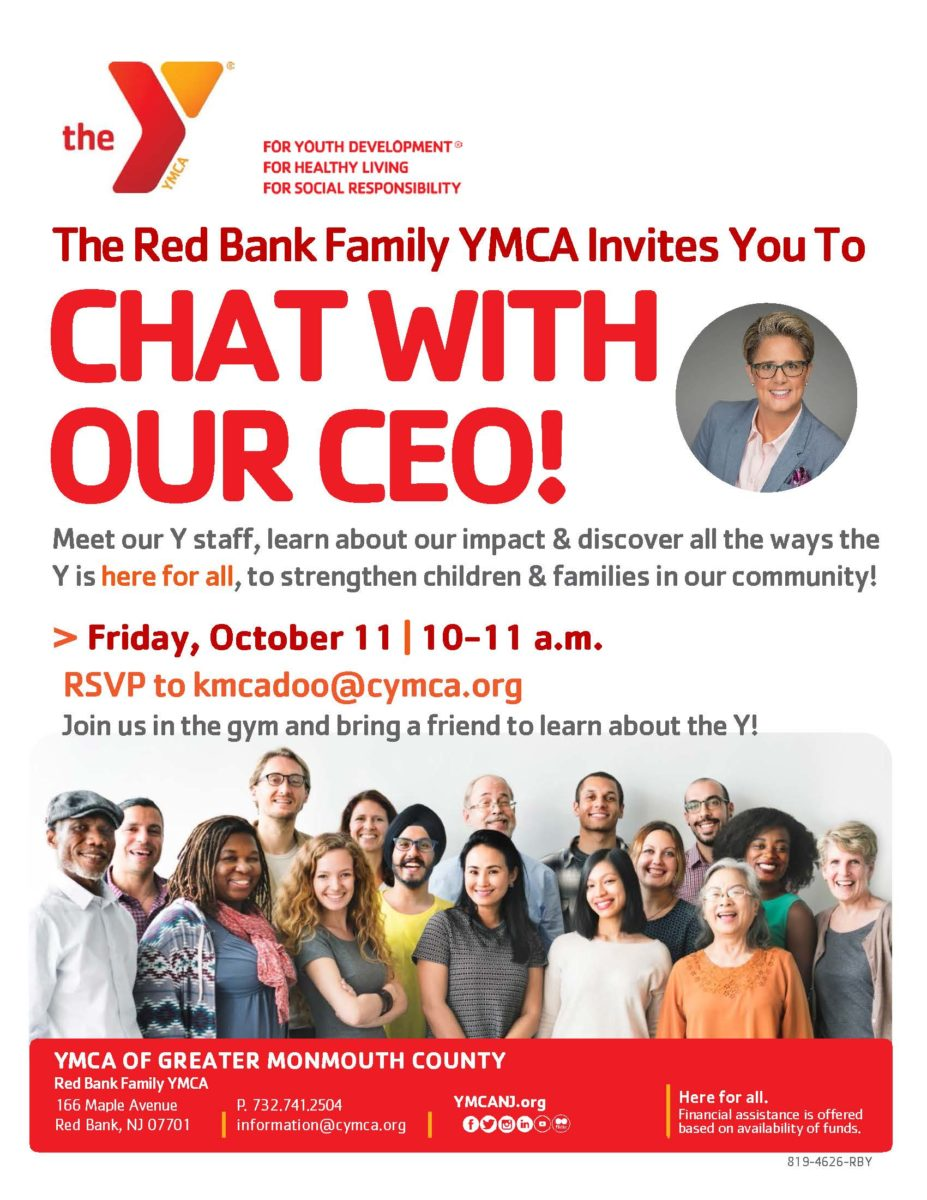 CEO Meet & Greet | Try the Red Bank Family YMCA - YMCA of Greater Monmouth  County