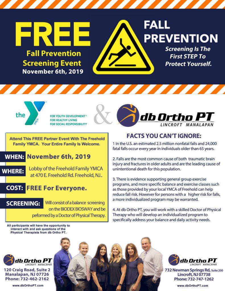 Fall Prevention Screening w/ db Ortho PT