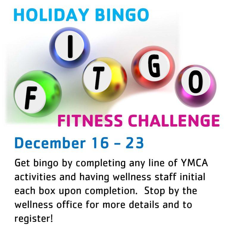 FITGO Holiday Bingo Fitness Challenge