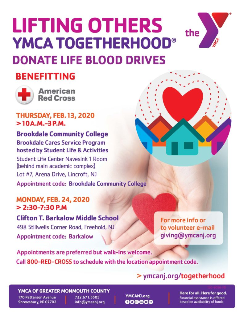 Togetherhood® Donate Life Blood Drive @ Brookdale Community College | Middletown | New Jersey | United States