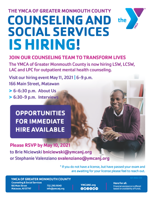 Counseling & Social Services Hiring Event @ Matawan | New Jersey | United States